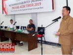 Sekretaris Daerah Kabupaten Aceh Timur  M. Ikhsan Ahyat,  S.STP. M.AP, membuka  musyawarah kabupaten (Muskab) ke VII   di Aula Dinas Syariat Islam, Selasa (6/8/2019).